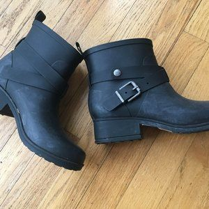 Lucky Brand Rubber Waterproof Buckle Boots